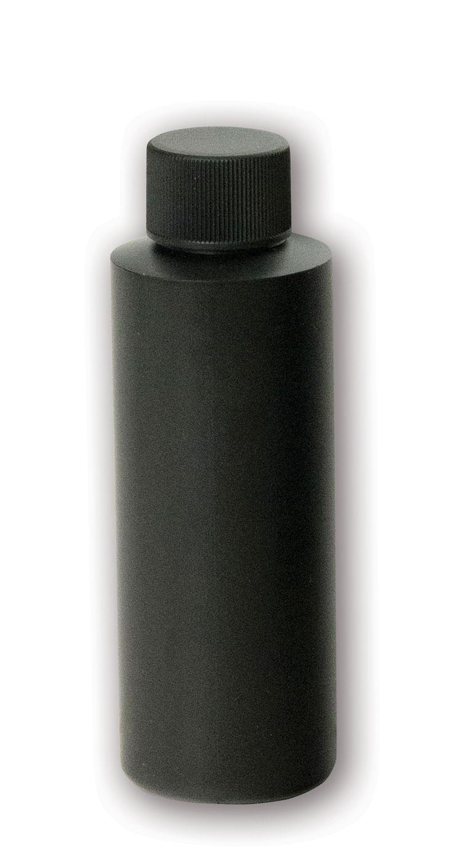 4 oz Opaque Black Bottle#(plastic w/cap)#Item ACC2107