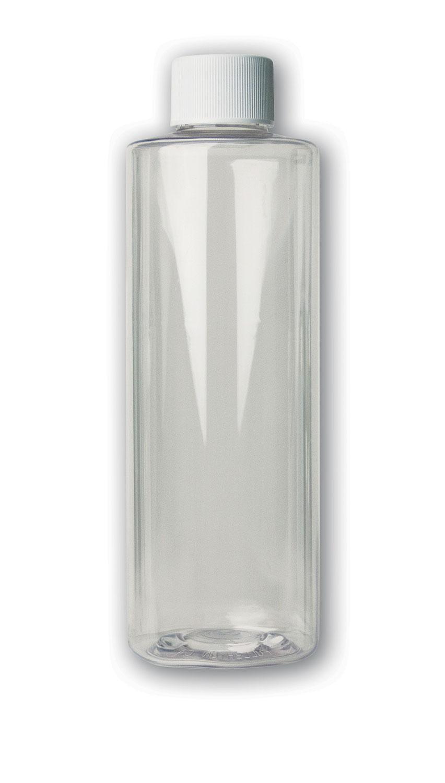 8 oz Clear Bottle#(plastic w/cap)#Item ACC2114