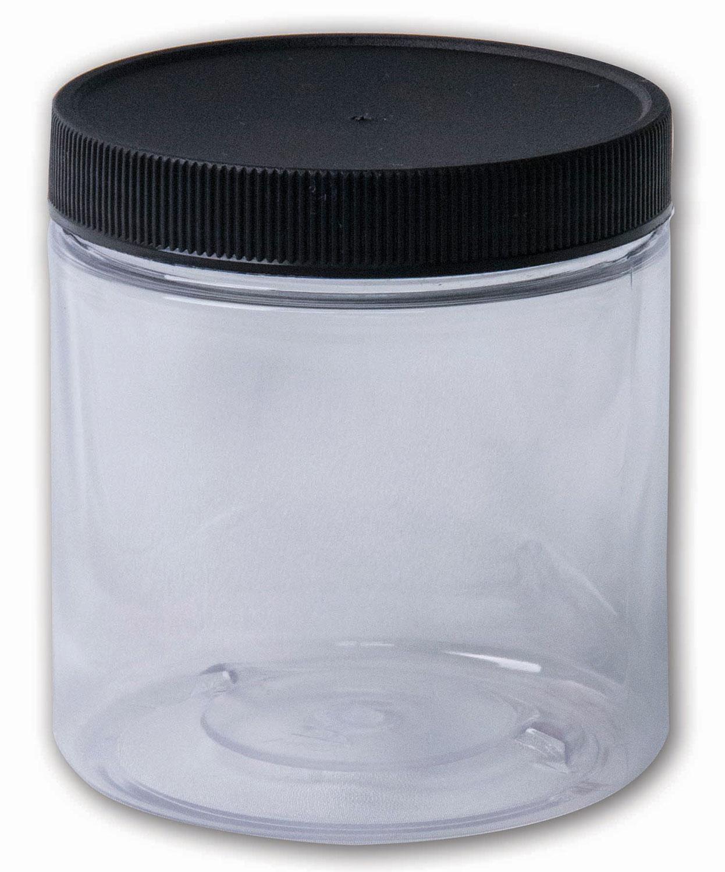 8 oz Clear Jar#(plastic wide-mouth w/lid)#Item ACC1796