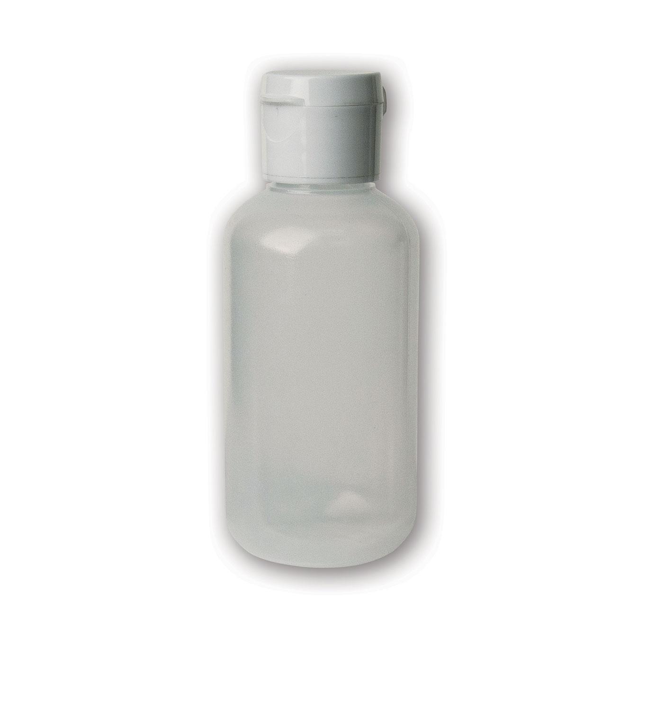 2 oz Translucent#Soft/Squeezable Bottle#(plastic w/flip cap)#Item ACC2125