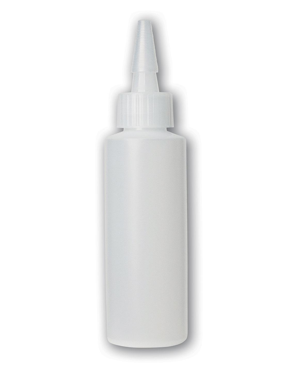 4 oz Translucent#Squeezable Yorker Bottle#(plastic w/spout cap)#Item ACC1003