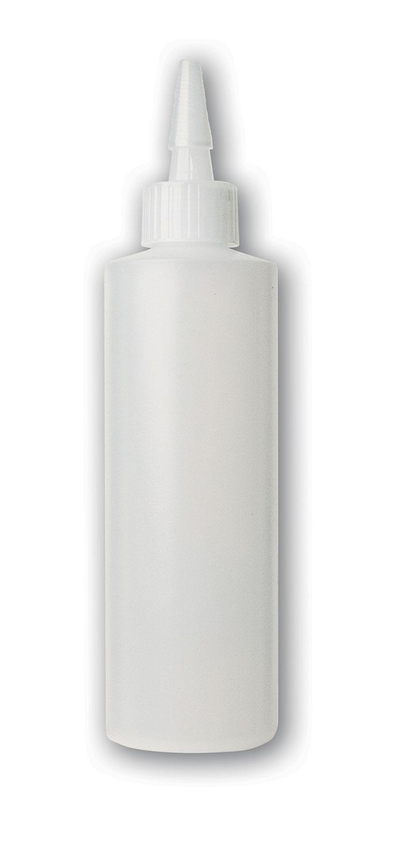 8 oz Translucent#Squeezable Yorker Bottle#(plastic w/spout cap)#Item ACC1004