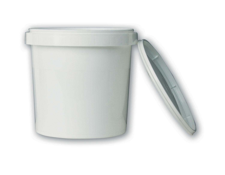 1 qt White Tub#(plastic w/lid)#Item ACC2119