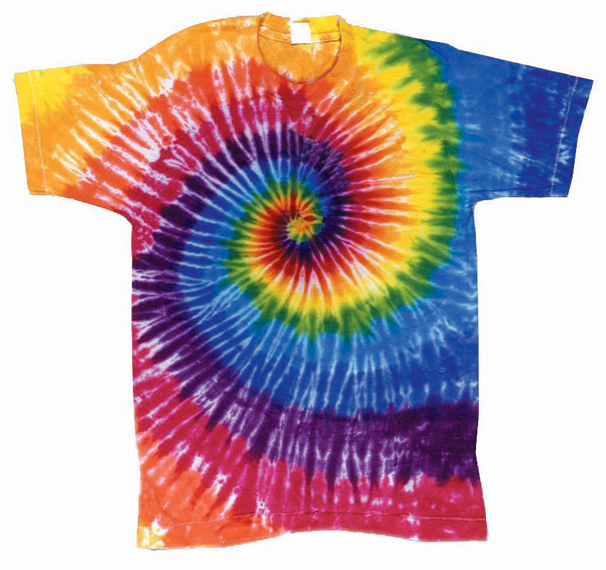 Classic tie dyed spiral