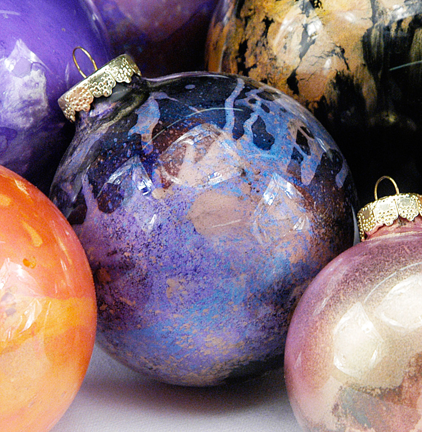 Pearl Ex ornaments by Erin Walsh