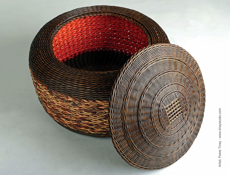 Dyed Basket by Peeta Tinay @tinaystudio