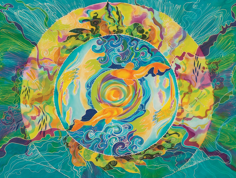 """Day of the Eclipse"" by Julie Cox-Hamm @juliartsilks"