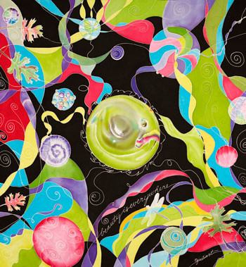 """Glass Menagerie"" by Julie Cox-Hamm @juliartsilks"