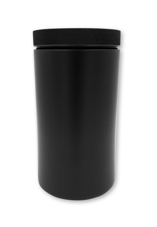1 qt Opaque Black Jar#(plastic wide-mouth with lid)#Item ACC2127