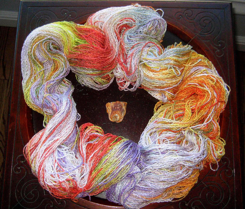 Dyed yarn by Barbara Foley
