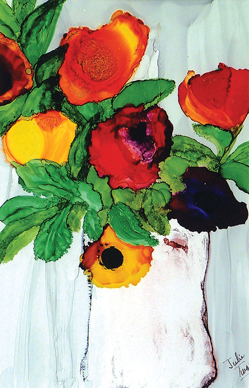 """Piñata Flowers in Vase"" by Julie Twomey"