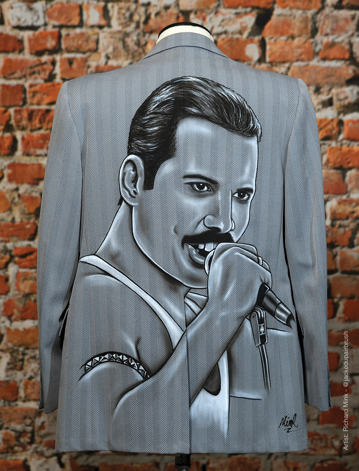 """Freddie Mercury"" by Richard Mink @jackedupairbrush"