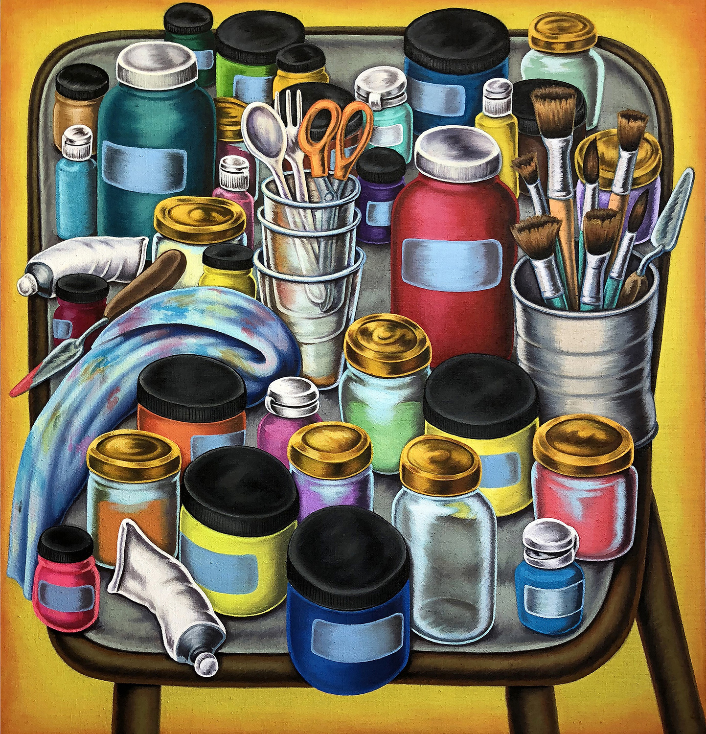 """Paint Table""#29""x30"""