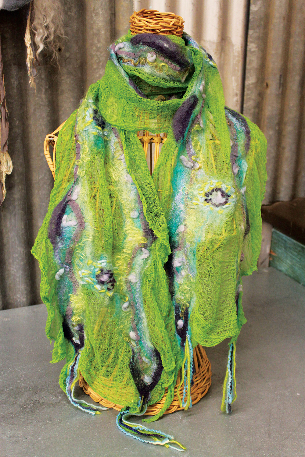 Dyed scarf by Hannah Arose @thetinthimble