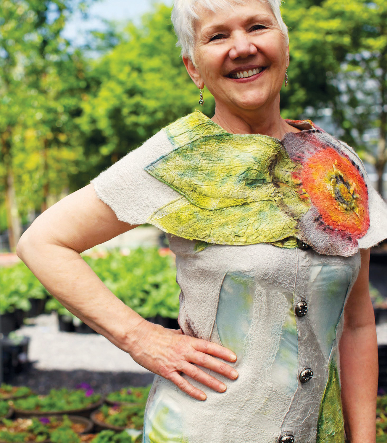 Dyed felted top by Hannah Arose @thetinthimble