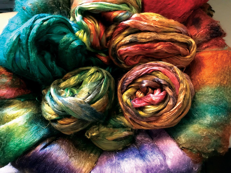 Dyed yarn by Hannah Arose @thetinthimble