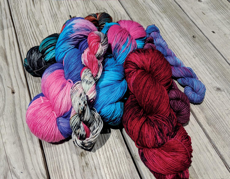 Dyed yarn by Abbey Schuyler @abbeyschuyler