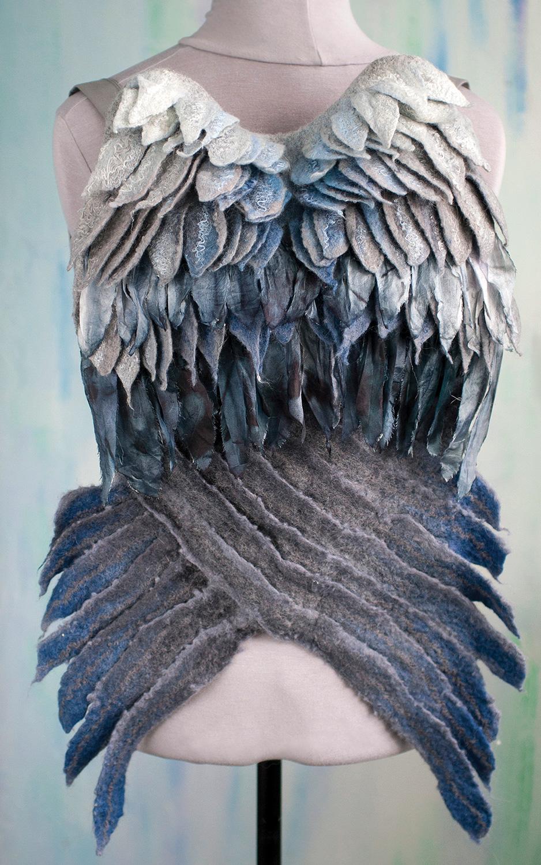 Dyed felted wings by Olga Kotova @winged.studio