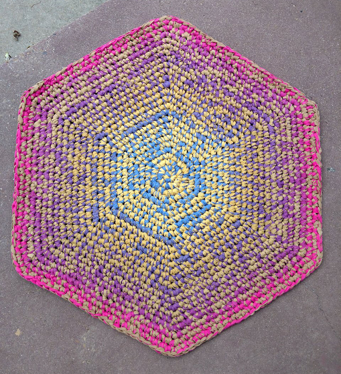 Dyed woven textile rug by Chuck