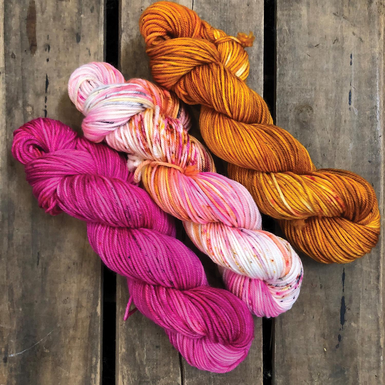 Dyed yarn by Katie Owen @ahandmadejourney