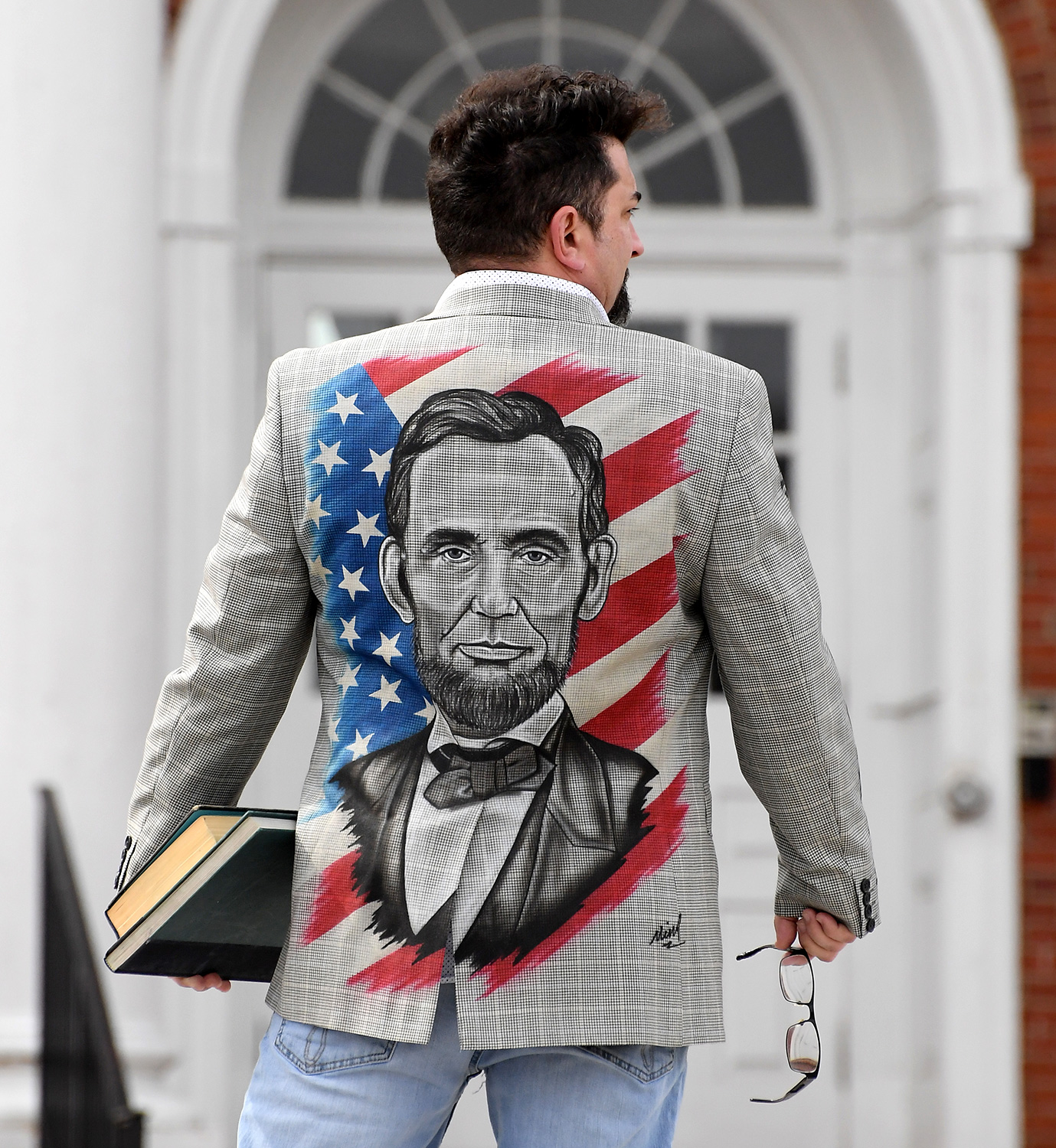 """Abe Lincoln"" by Richard Mink @jackedupairbrush"