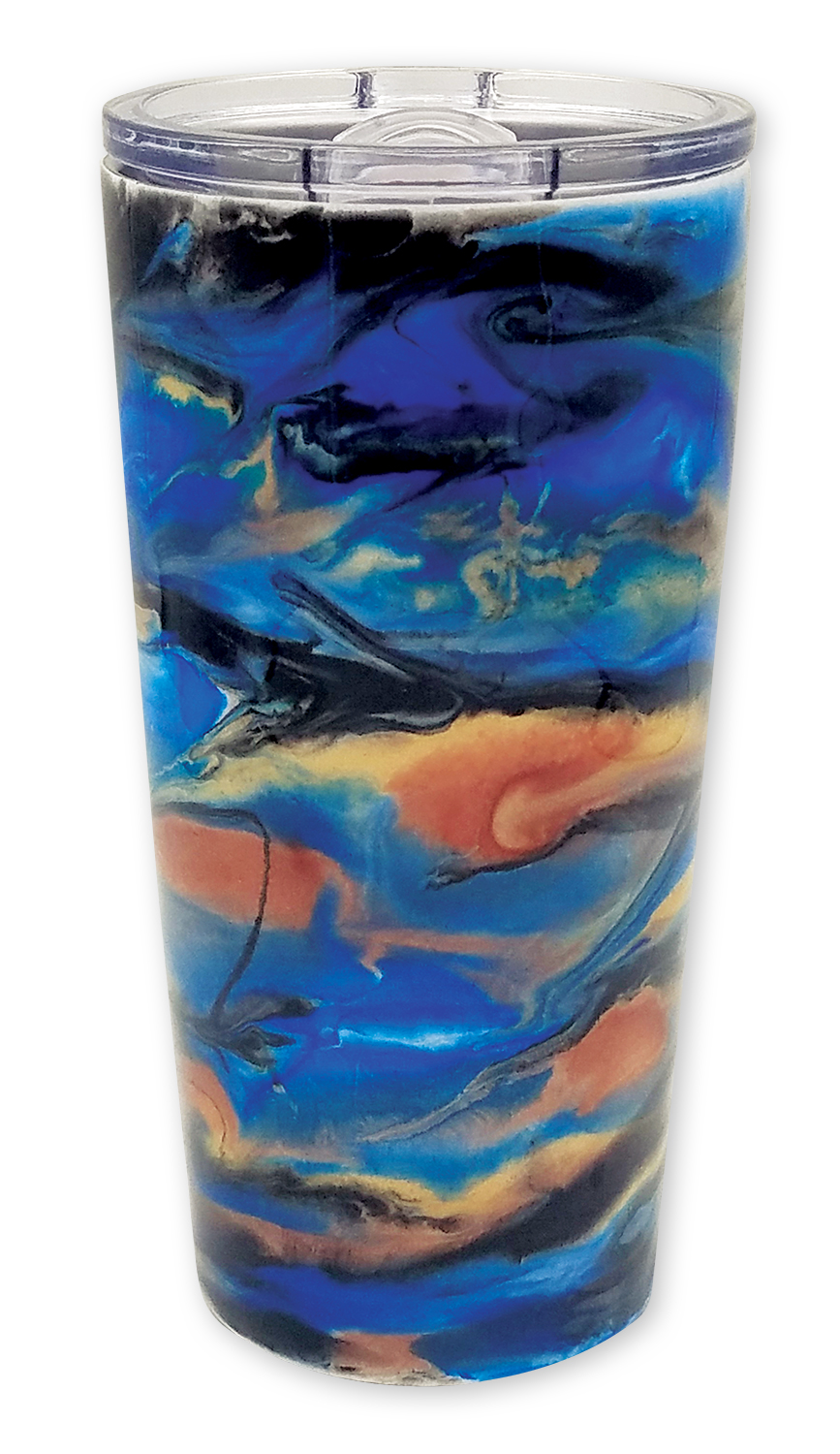 Resin and Pearl Ex tumbler by Cindy Hendrix @spidercreations
