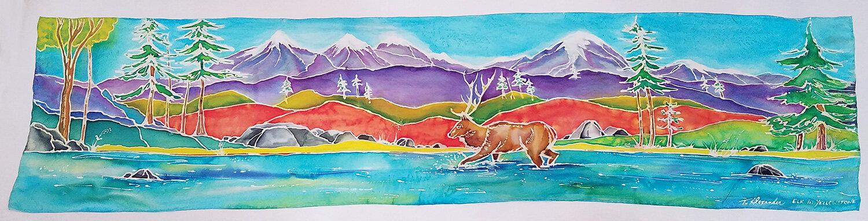 """""""Elk in Yellowstone"""" by Tanya Alexander @artbytanyaalexander"""