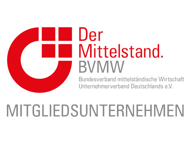 - We are member of Verband der mittelständischen Wirtschaft (Association of Small and Medium-sized Enterprises) because we find many comrades-in-arms with our concerns, e.g. to quickly develop innovations and pragmatically translate them into products and services.