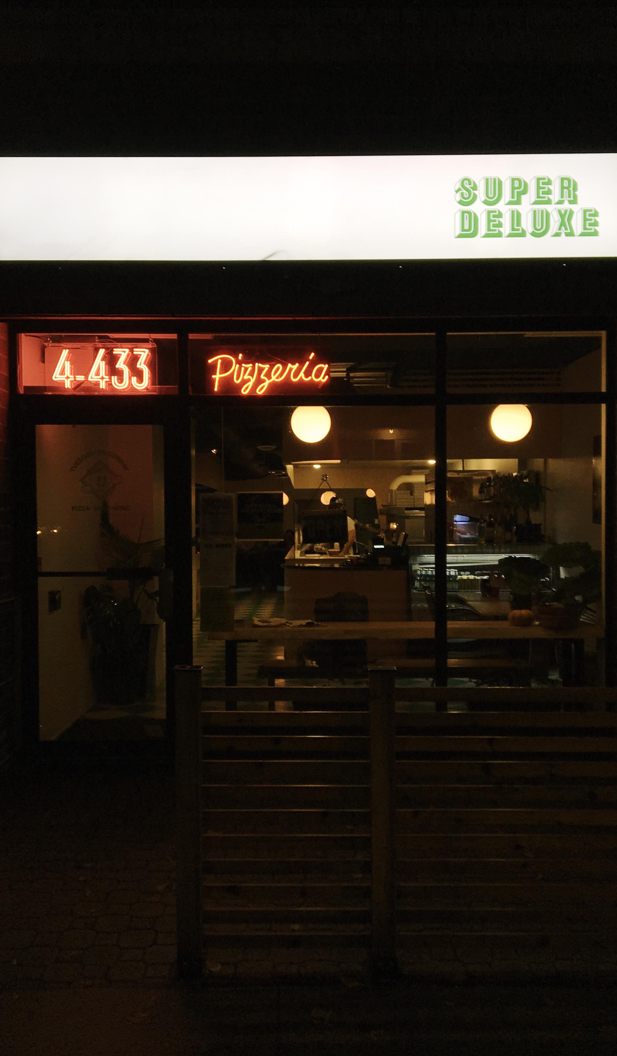 Super Deluxe Pizzeria: 4-443 River Ave.