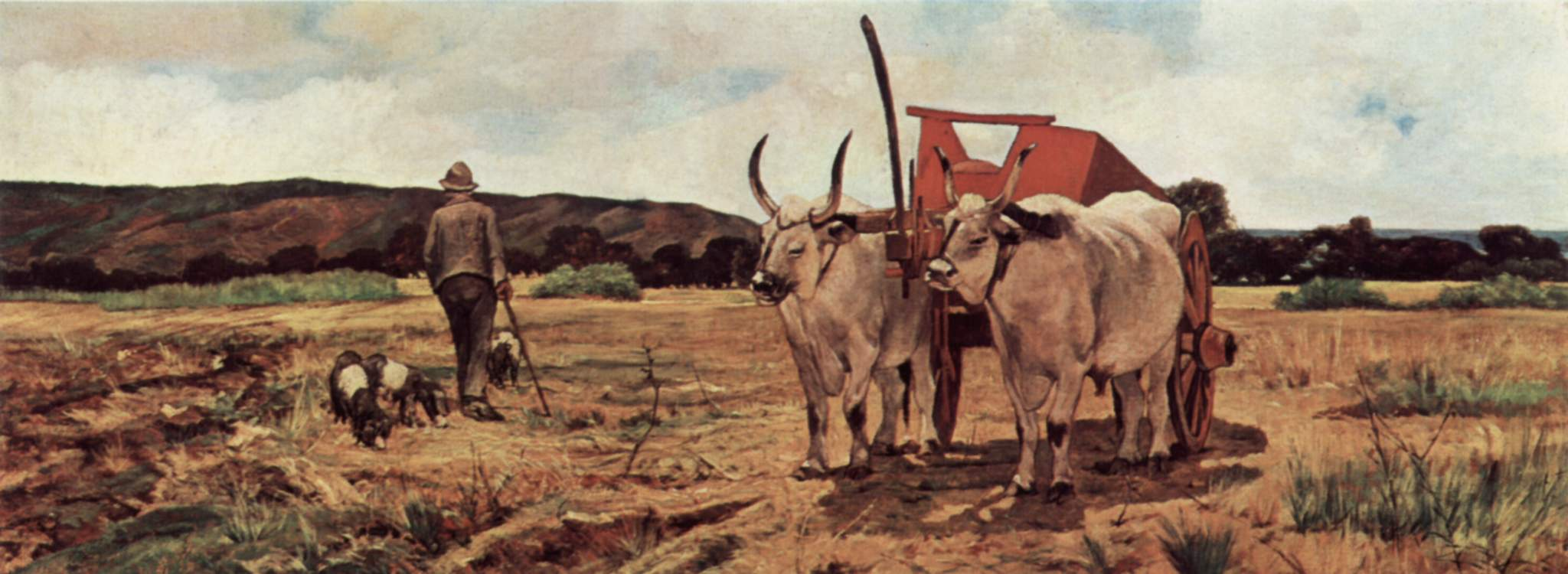 Giovanni Fattori   Landscape with farmer and oxen cart,  1894 Pitti Palace, Modern Art Gallery, Florence, Italy