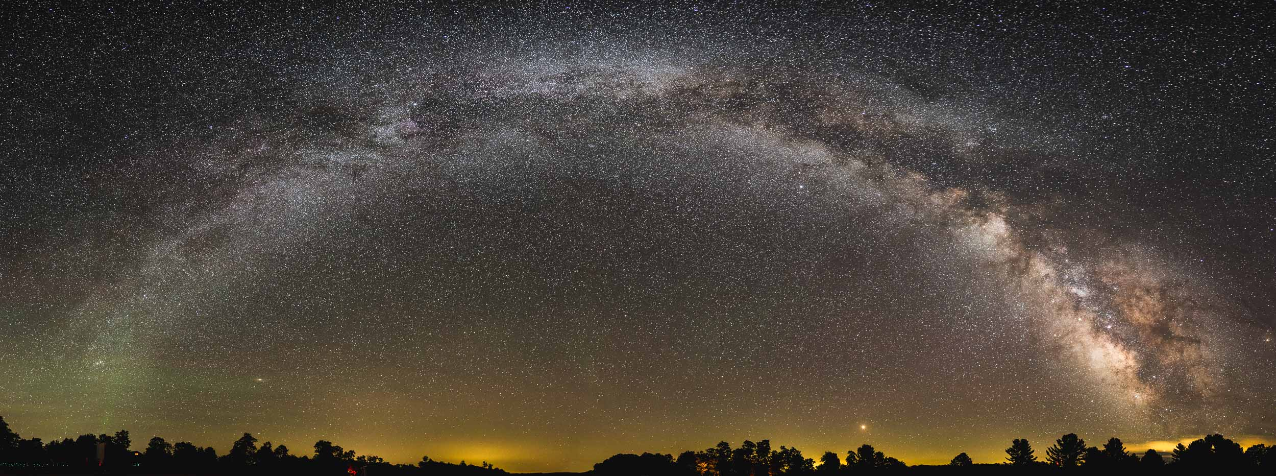The full arch of the Milky Way at Cherry Springs State Park in Pennsylvania. On a clear night, more than 30,000 stars are easily visible here.