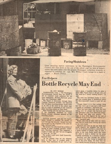 WEC helped start Washington's first recycling program in 1972.