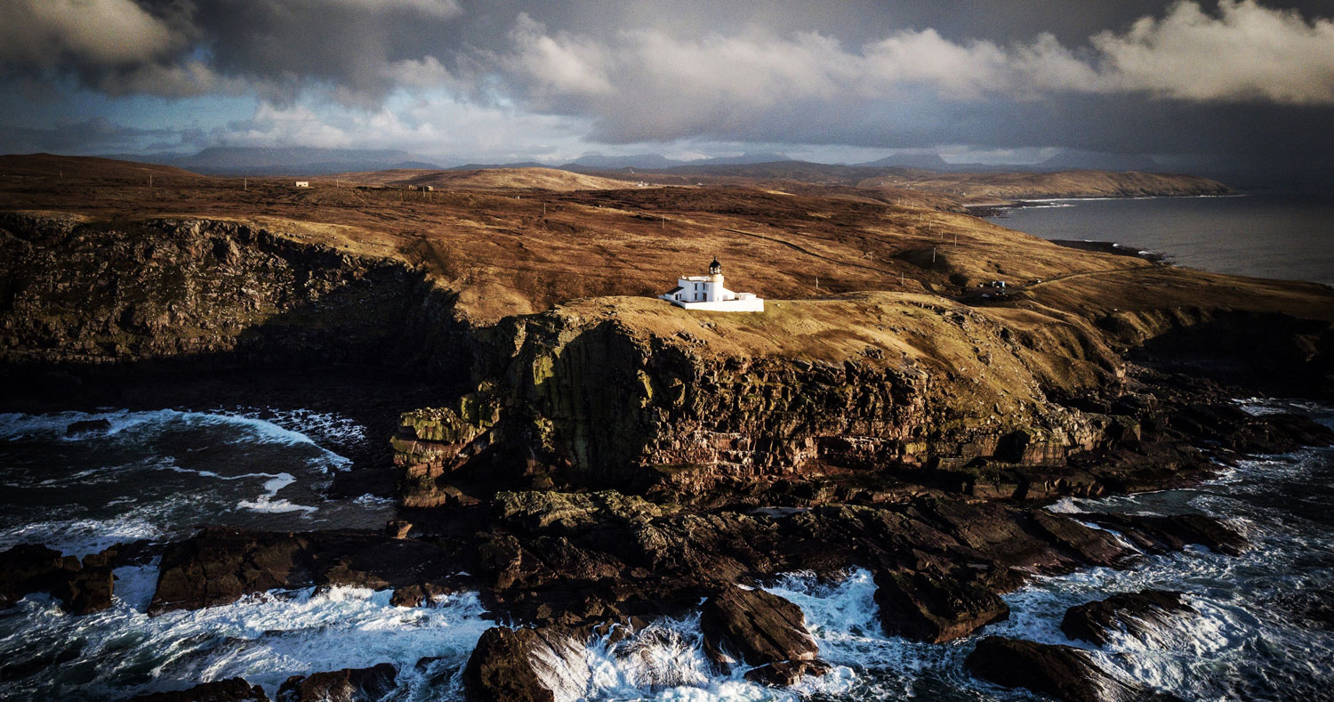 Stoer Lighthouse in northern Scotland