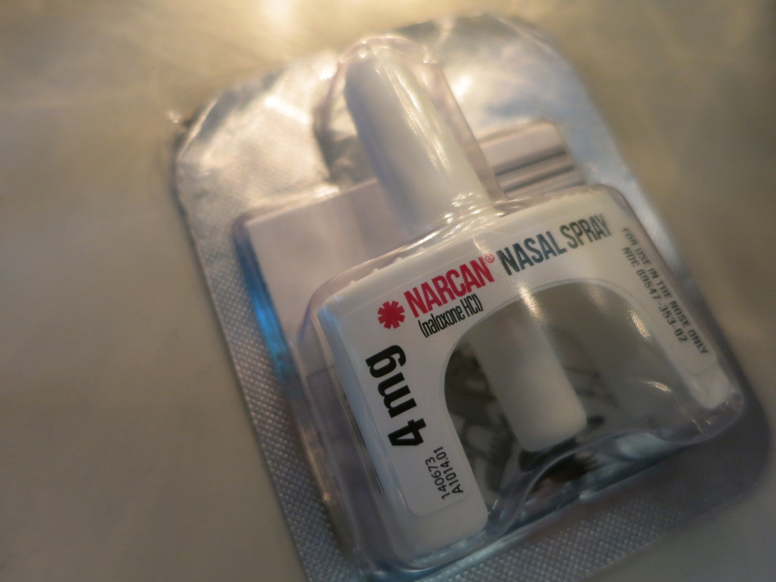 A vial of Narcan handed out at the training.    CREDIT: ANNA BOIKO-WEYRAUCH »
