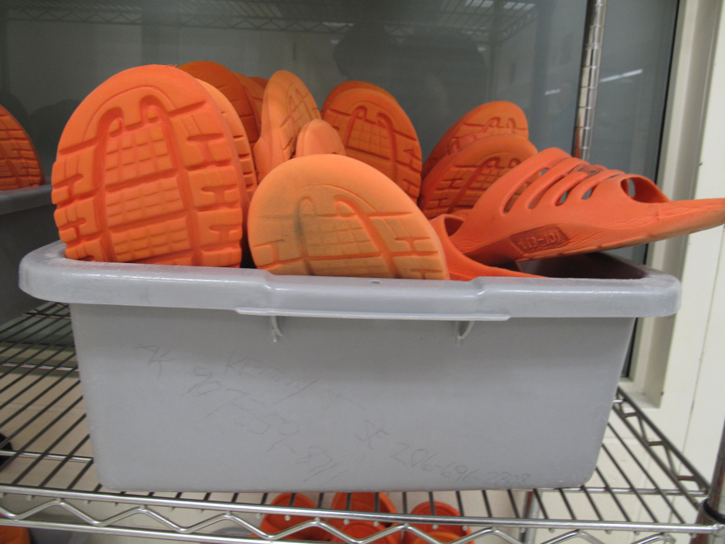 Inmate slippers.   CREDIT: ANNA BOIKO-WEYRAUCH / FINDING FIXES.