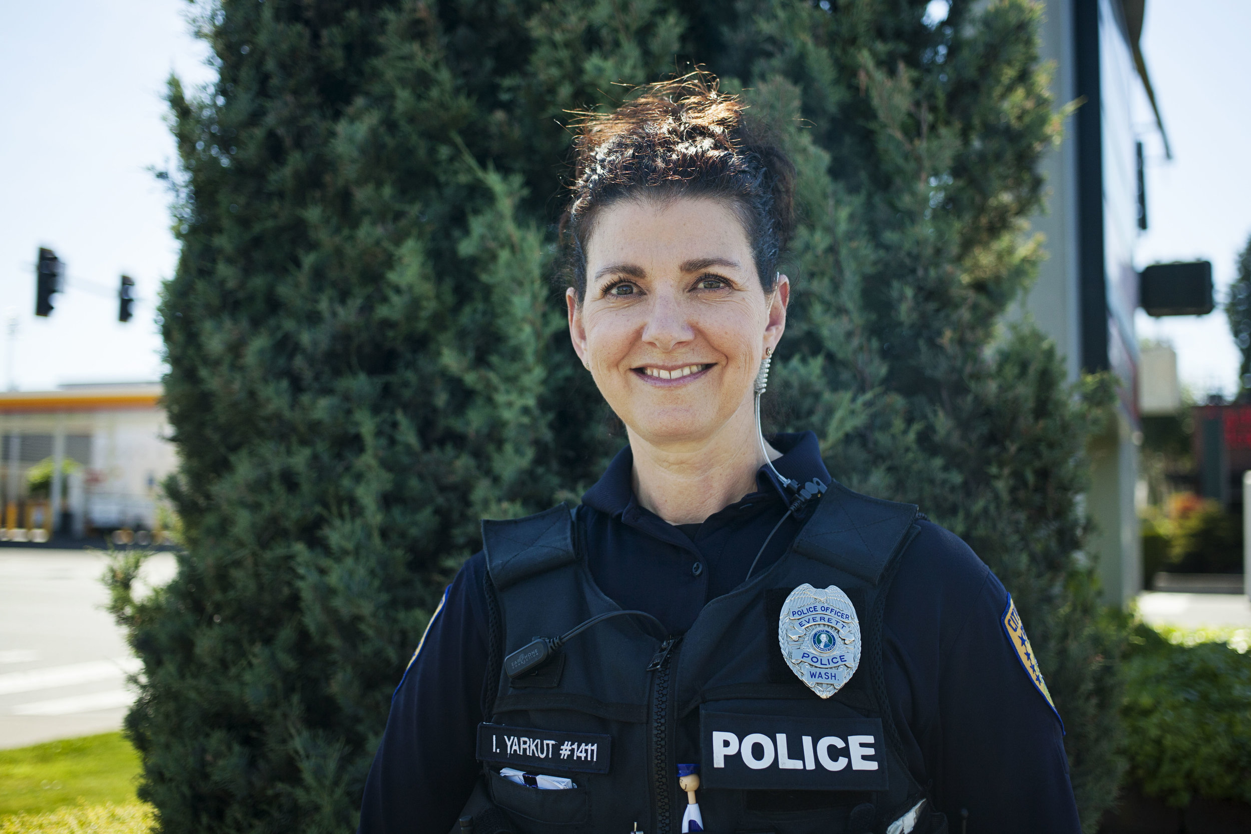 Officer Inci Yarkut.   CREDIT: DANA MCGLOCKLIN for FINDING FIXES. May 23, 2019. >>
