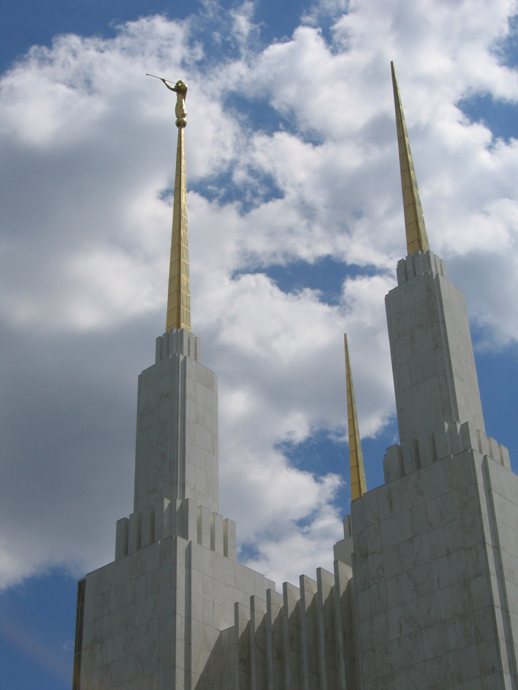 Spires of the Washington DC Temple