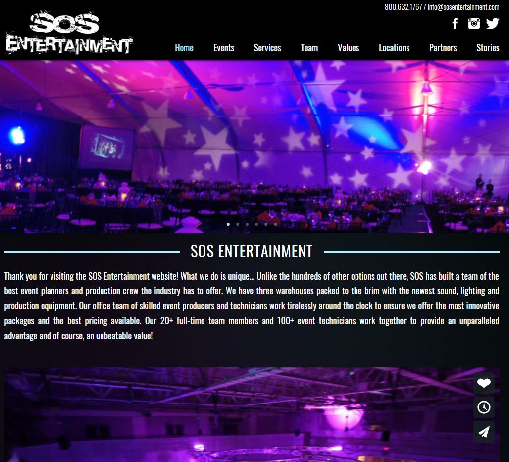 SOS Entertainment Website