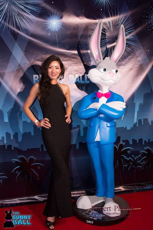 Custom Bunny in Tuxedo Prop