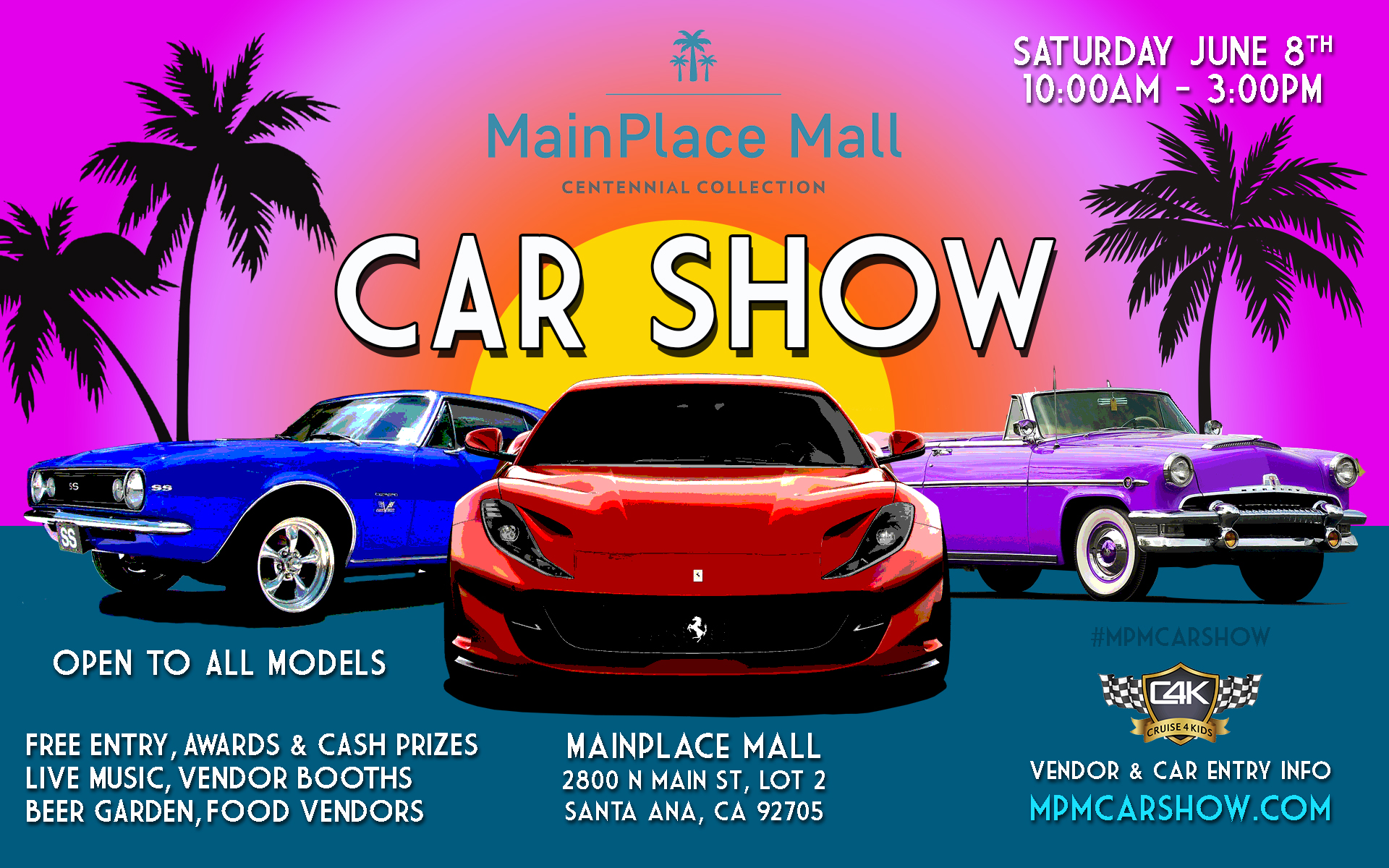 MainPlace Mall Car Show Flyer