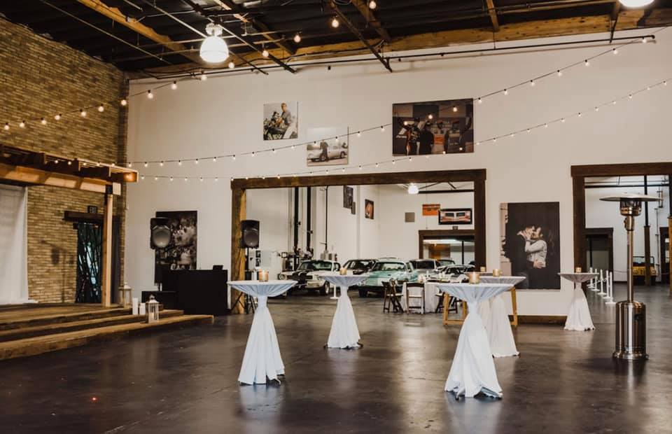 Main Event Space Ready for Reception Party