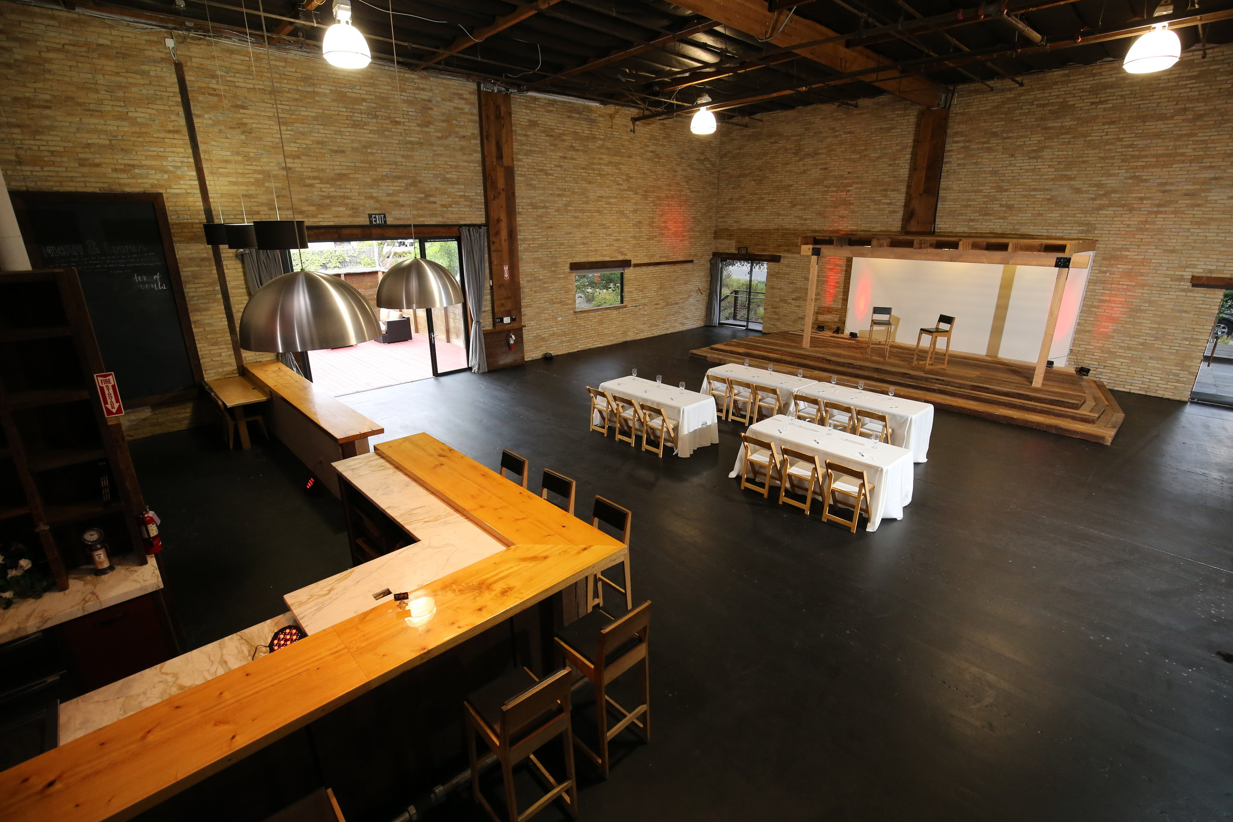 Main Event Space, Stage, & Bar