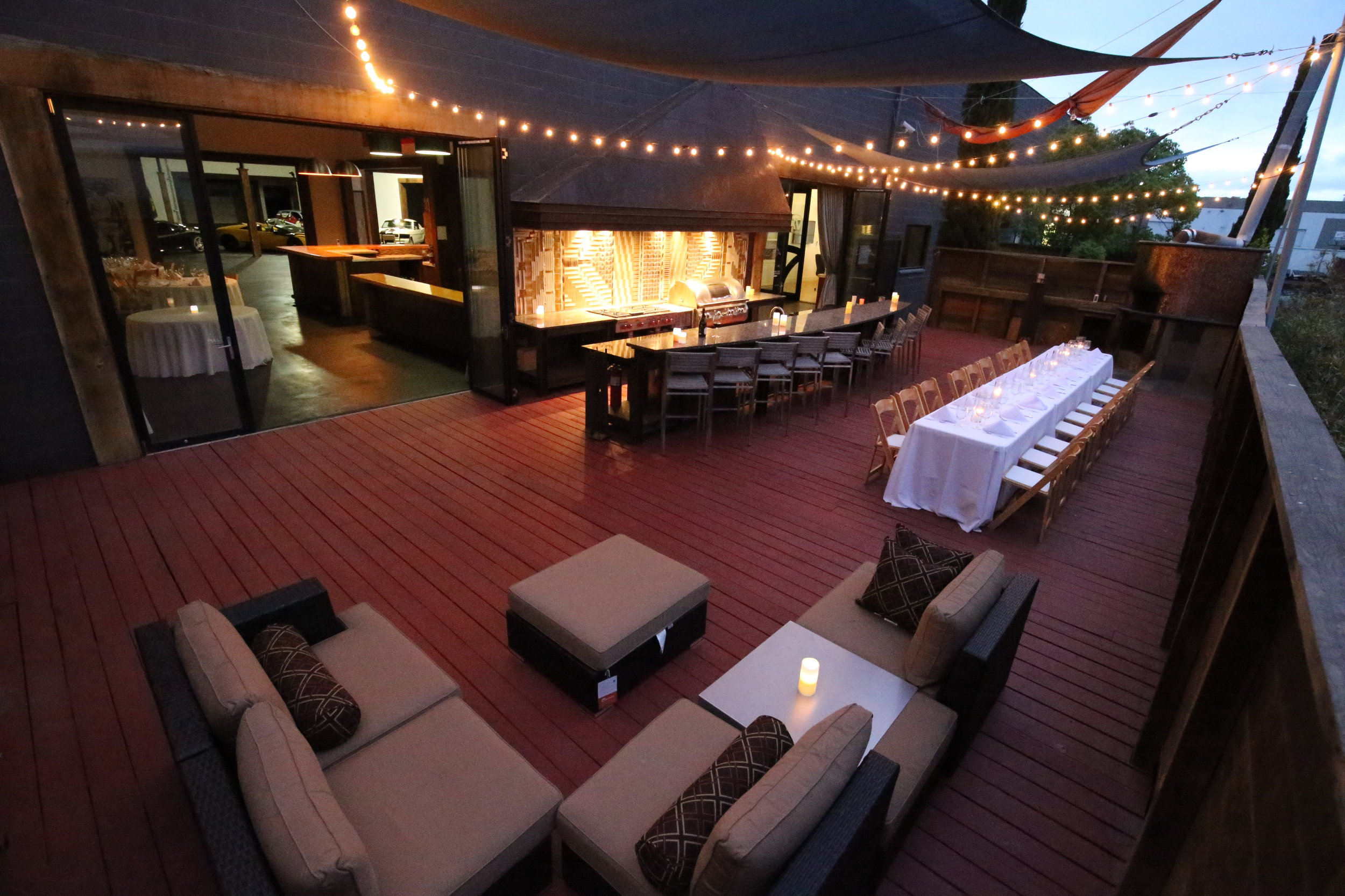 Patio Set Up for Private Dinner