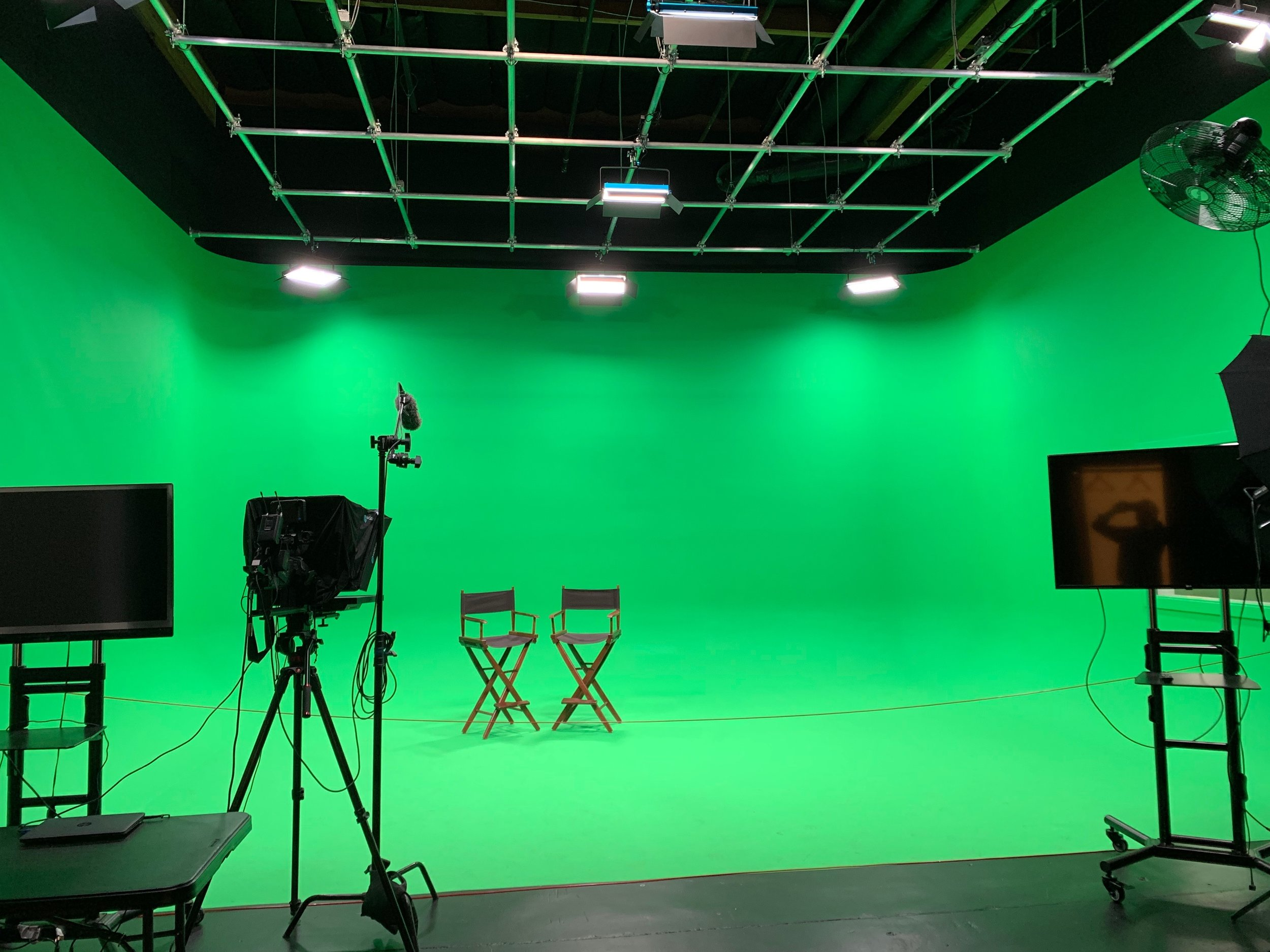 Green Room with Lighting Grid