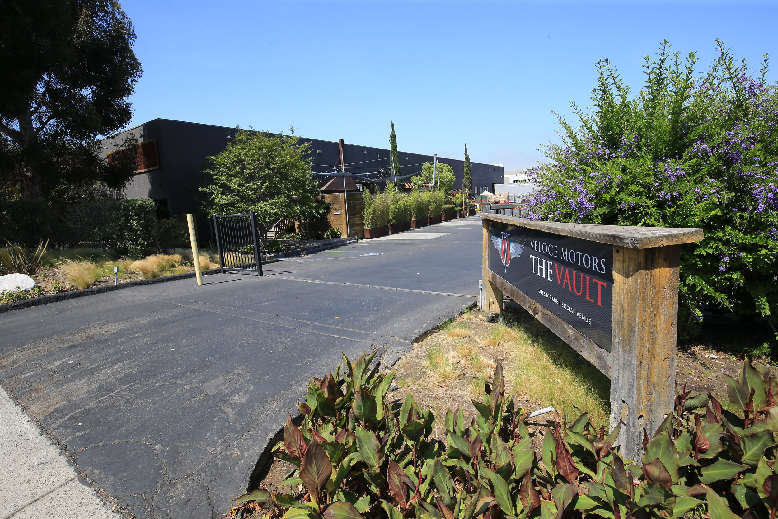 Street Entrance to Front Lot