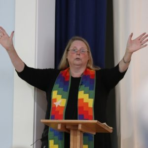 Rev. Judith Fulp-Eickstaedt - Rev. Judith Fulp-Eickstaedt was ordained in the PC(USA) in 1992 after graduating from Columbia Theological Seminary. She has served churches in Warrensburg, New York and Statesville, North Carolina before moving to Northern Virginia in 2005. Judith and her husband (also a PCUSA pastor) have two daughters, one who is currently serving as a PCUSA Young Adult Volunteer (YAV). Judith currently serves as Pastor and Head of Staff at Trinity Presbyterian Church in Arlington, VA. In 2015, Judith and her husband and daughters walked the Camino de Santiago over 50 days, meeting a host of other pilgrims from all over the world. This life-changing experience has fueled Judith's interest in conversations with people of other faith traditions and people who claim no faith tradition at all. Judith is also intensely interested in the intersection of faith and science, especially around the mystery of consciousness and quantam physics.