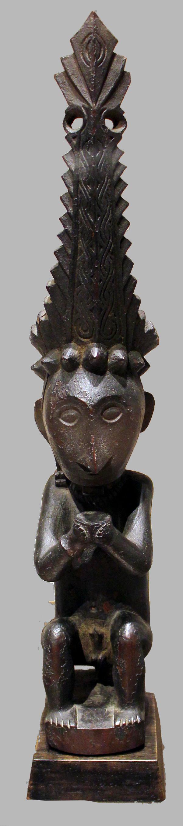 Seated Male Ancestor Figure |  Adu Sihara Salawa  © Musée du Quai-Branly | France