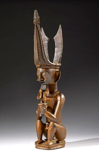 Seated Male Ancestor Figure |  Adu Sihara Salawa  © Museum of Fine Arts, Houston | Texas, USA