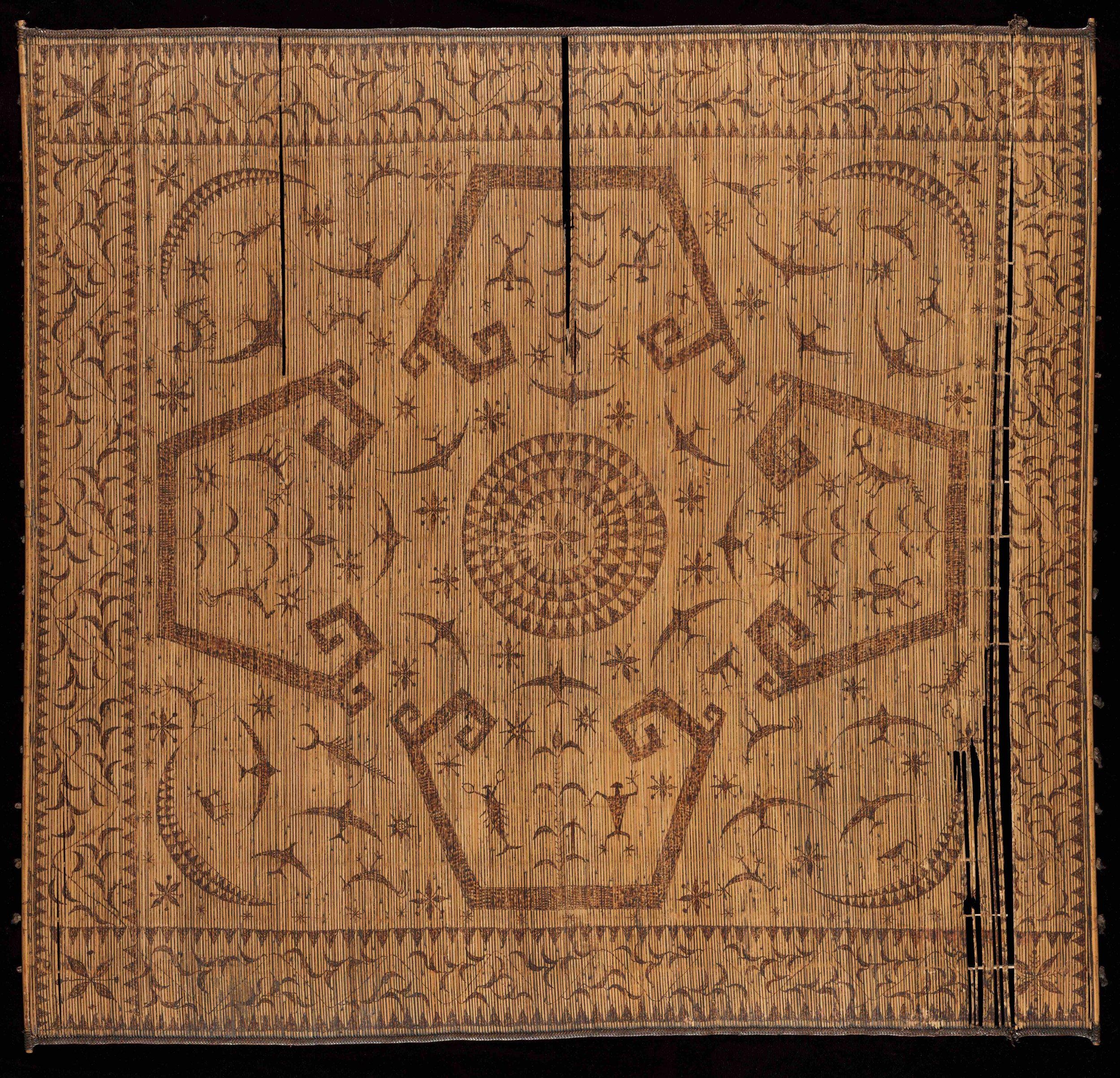 Ceremonial Split Rattan Mat |  Lampit  © The Dallas Museum of Art | Texas, USA