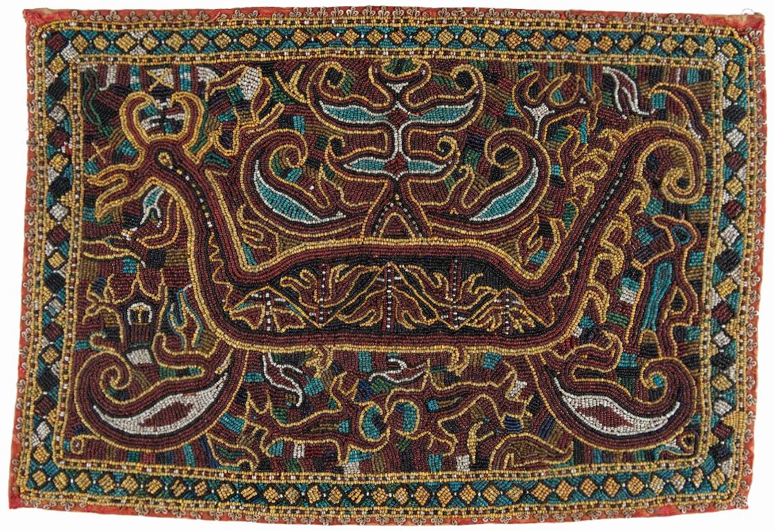 Beaded Ceremonial Cloth |  Tampan Maju  © Museum Nasional Indonesia